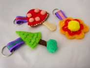 Appliqué & embellishing – handbag keyring charms