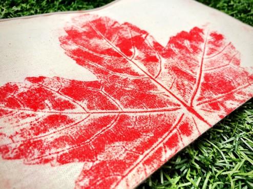 Fabric leaf printing