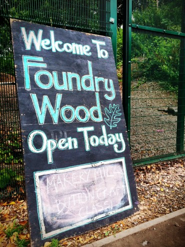 Outdoor classes at Foundry Wood, Leamington