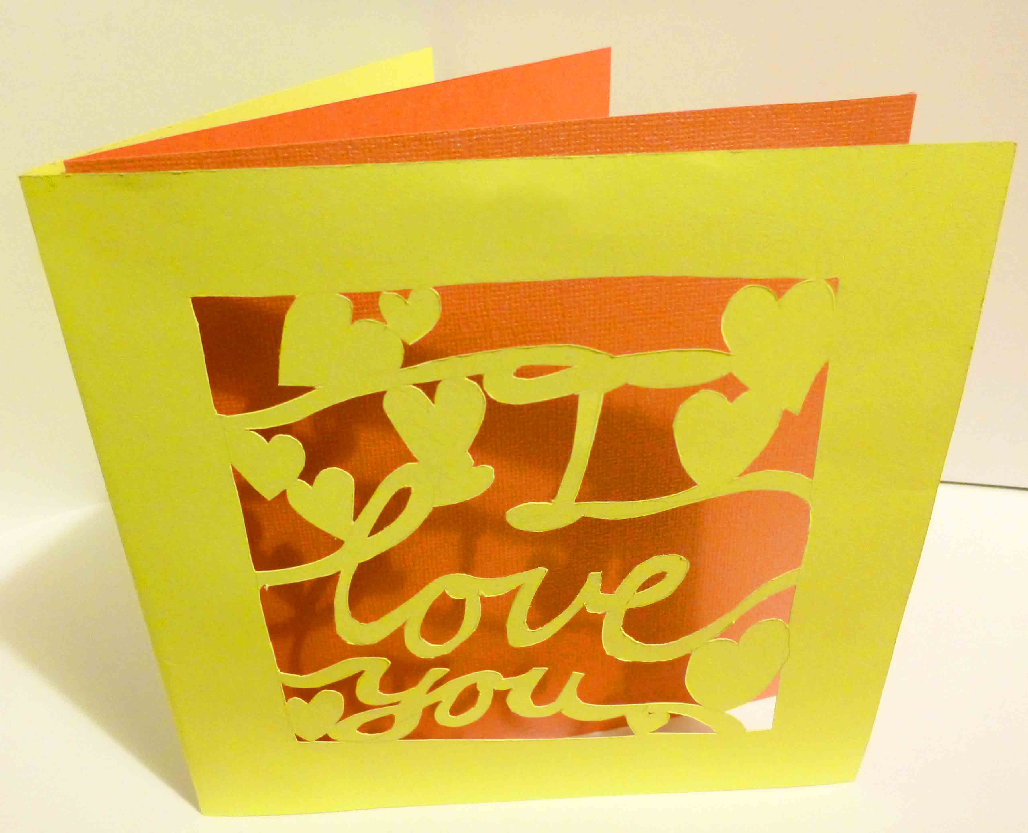 MM cut out card