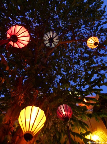 A tree full of lanterns