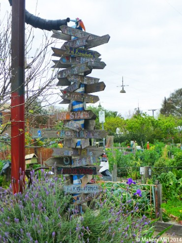 Hand-made allotment sign post