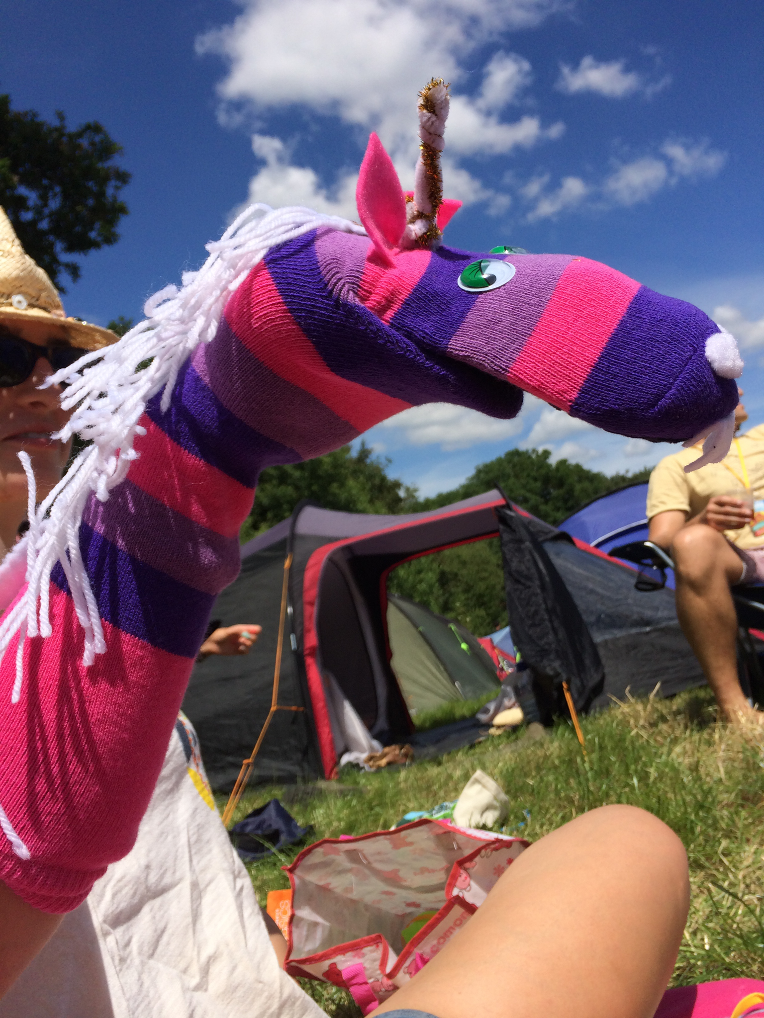 Festival Sock Puppet - Unicorn