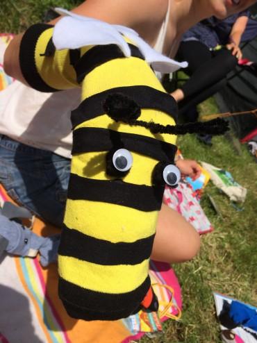 Festival Sock Puppet - Bee