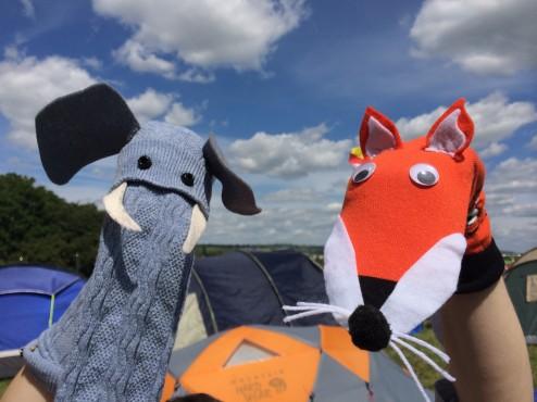 Festival Sock Puppets - Ele & Fox