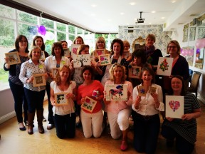 Hen Party - Button & paper crafts
