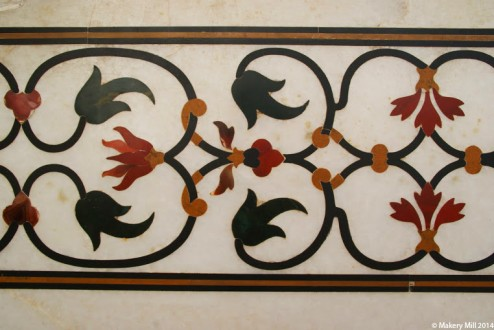 Stone inlay work on the Taj Mahal