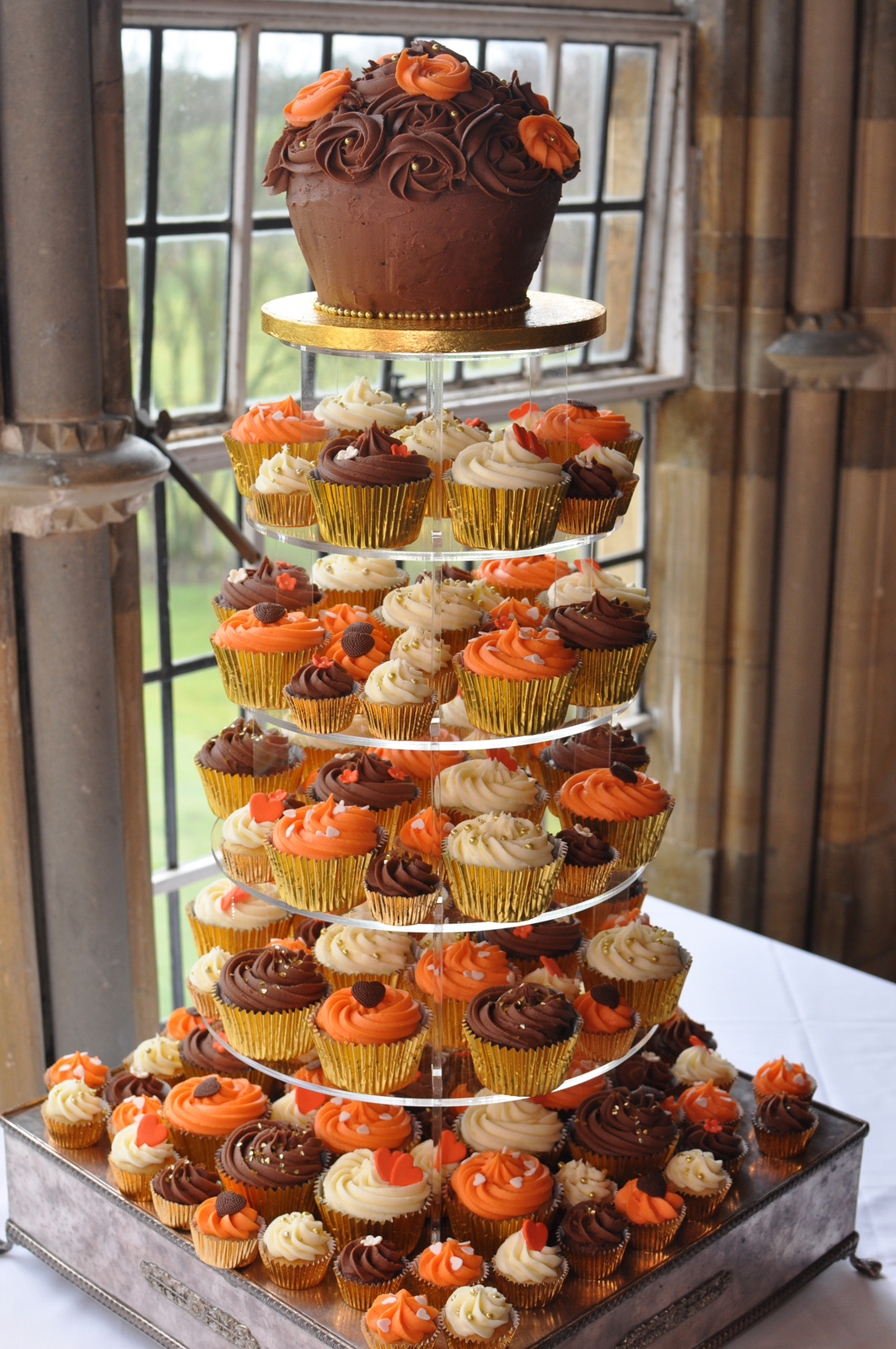 fall wedding cakes with cupcakes autumn cupcake tower makery mill 14171
